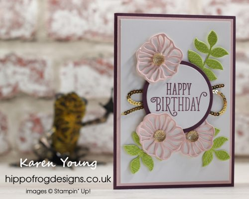 In Color 50th Birthday Card. Designed by Karen at HIPPOFROG Designs