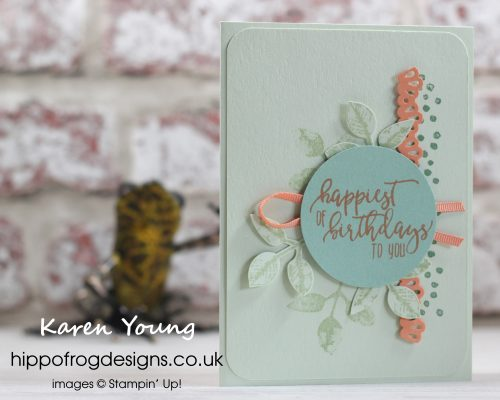 Card and Cuppa Project. Layers and Leaves. Designed by Karen at HIPPOFROG Designs