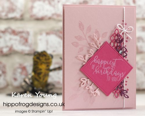 Pretty in Pinks and Purple using Petal Palette. Designed by Karen at HIPPOFROG Designs