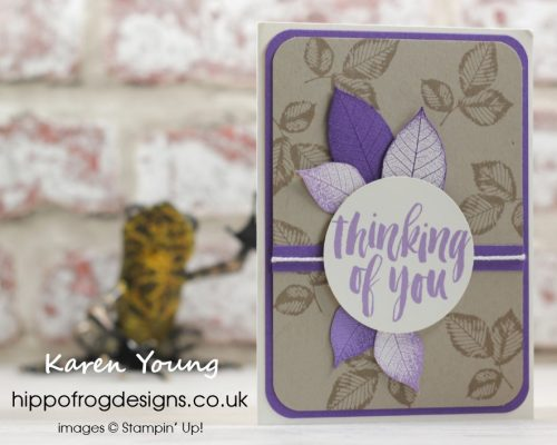 Thinking of You project. Designed by Karen at HIPPOFROG Designs