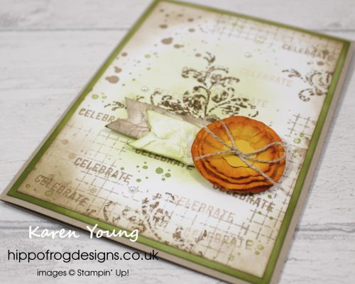 Floral Grunge Card & Cuppa Project. Designed by Karen at HIPPOFROG Designs