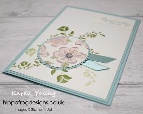 Botanical Bliss Card & Cuppa project. Designed by Karen at HIPPOFROG Designs