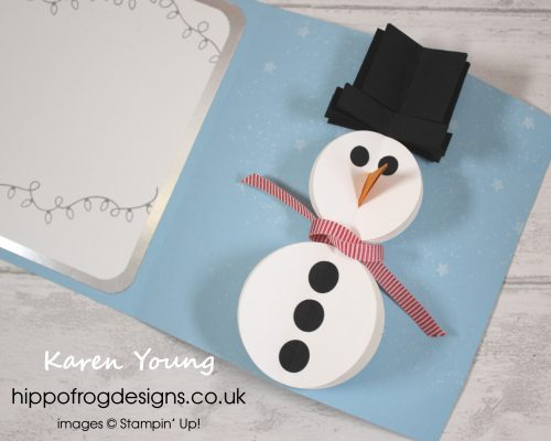 Card & Cuppa Snowman Card. Project designed by Karen at HIPPOFROG Designs