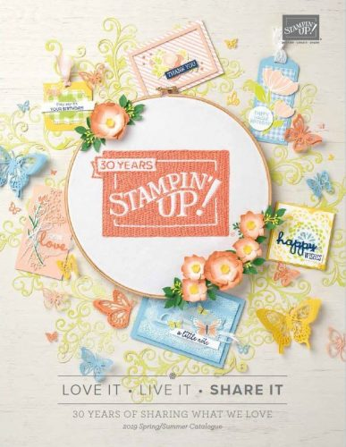 Stampin' Up! 2019 Spring/Summer Catalogue Cover. Products available from Karen at HIPPOFROG Designs