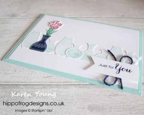 Vibrant Vases Just for You. Card & Cuppa project designed by Karen at HIPPOFROG Designs