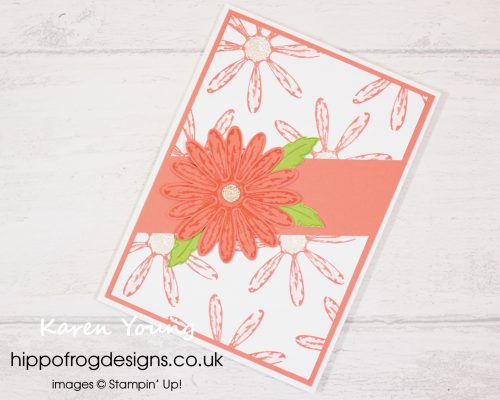Daisy Delight Diagonal Slash project. Designed by Karen at HIPPOFROG Designs