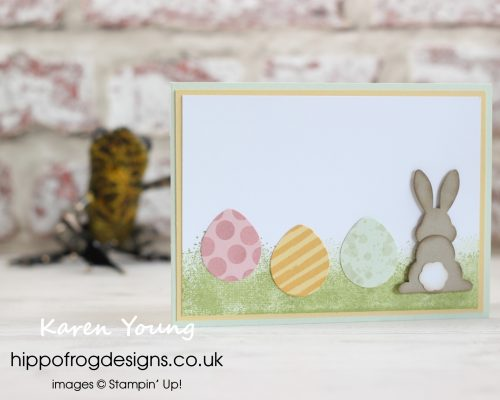 Easter Punch Art project using Stampin' Up! products. Designed by Karen at HIPPOFROG Designs