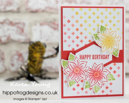 A Bright Birthday Card. Project designed by Karen at HIPPOFROG Designs