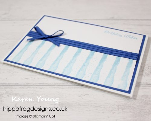 Waterfront Birthday in Blues. Designed by Karen at HIPPOFROG Designs