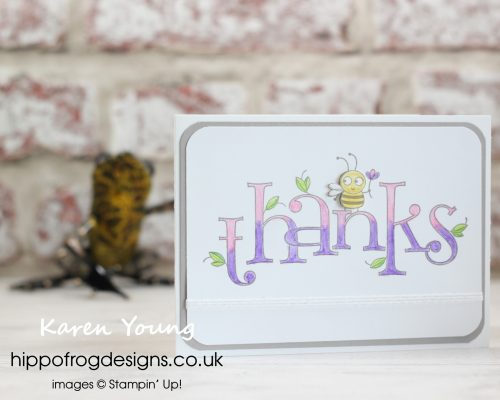Stampin' Up!'s Bee Thankful Meets... Card & Cuppa project designed by Karen at HIPPOFROG Designs