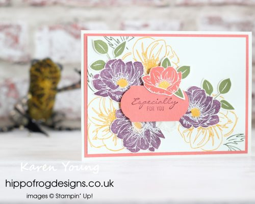 Floral Esssence from Stampin' Up! Project designed by Karen at HIPPOFROG Designs