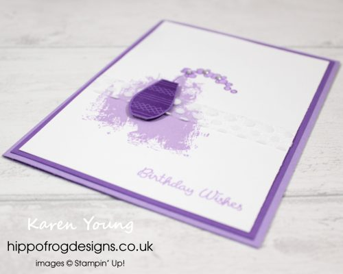 Varied Vases in Purple. Card & Cuppa project designed by Karen a HIPPOFROG Designs