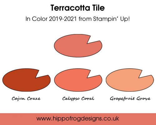 Terracotta Tile In Color from Stampin' Up! Project designed by Karen at HIPPOFROG Designs