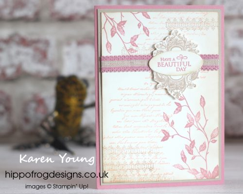 Rococo Rose In Color from Stampin' Up! Project designed by Karen at HIPPOFROG Designs