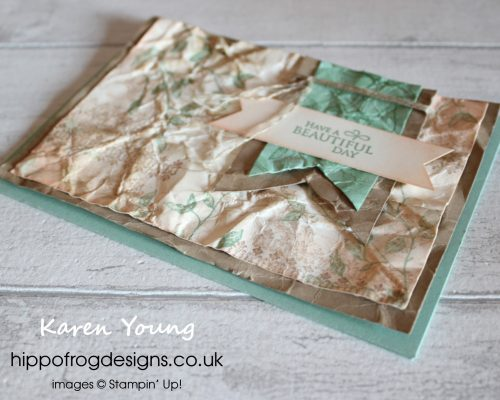 To Grunge or Not To Grunge. Card & Cuppa project designed by Karen at HIPPOFROG Designs
