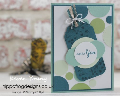 Delightful Tag Topper Punch. Project designed by Karen at HIPPOFROG Designs