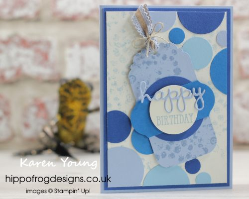 More Delightful Tag Topper Punch. Project designed by Karen at HIPPOFROG Designs
