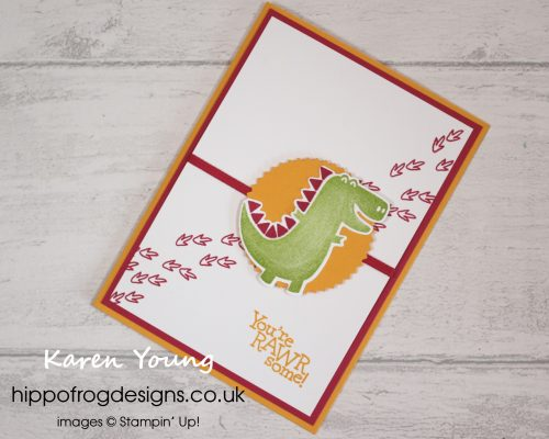 Dino Days Stamp-a-Stack Project. Designed by Karen at HIPPOFROG Designs