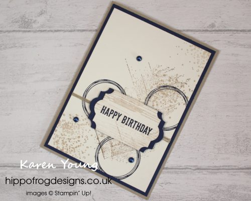 Another Gallery Grunge Project. Stamp-a-Stack project designed by Karen at HIPPOFROG Designs