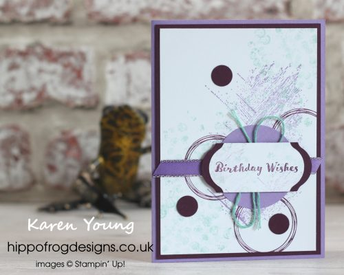 Gallery Grunge Card & Cuppa project. Designed by Karen at HIPPOFROG Designs