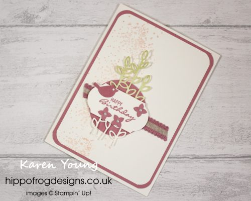Meeting Rococo Rose. Card & Cuppa project designed by Karen at HIPPOFROG Designs