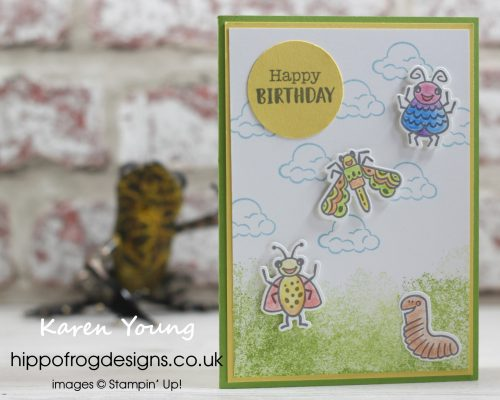 Cute Creepy Crawlies. Card & Cuppa for Childdren project designed by Karen at HIPPOFROG Designs