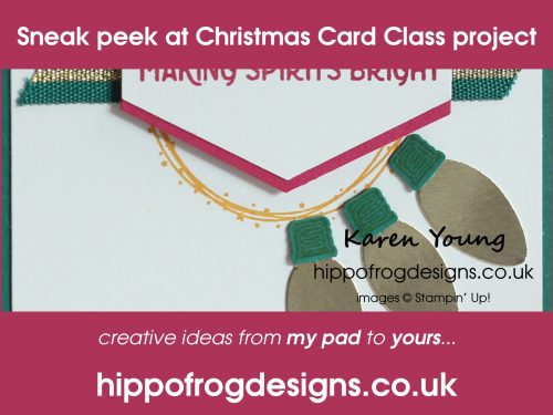 Christmas Card Class Sneak Peek. Project designed by Karen at HIPPOFROG Designs