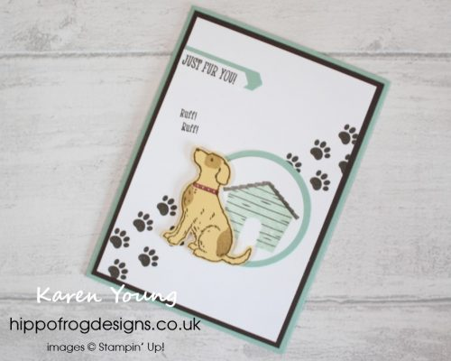 Happy Tails Card & Cuppa Project. Designed by Karen at HIPPOFROG Designs.
