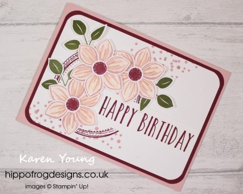 Floral Essence & Perennial Birthday. Project designed by Karen at HIPPOFROG Designs
