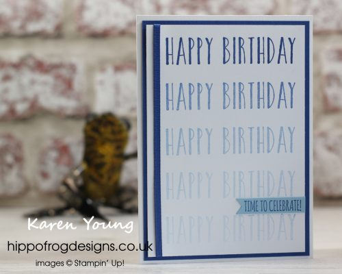 Easy Stamparatus Card. Designed by Karen at HIPPOFROG Designs