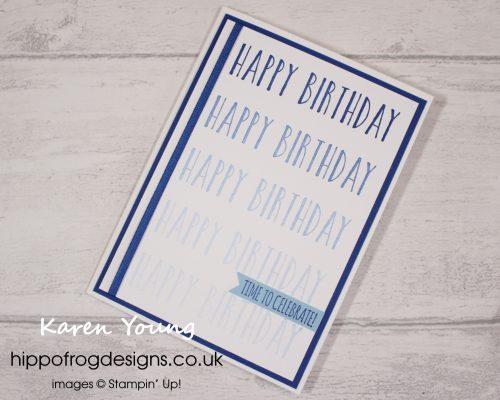 Easy Stamparatus Card. Designed by Karen at HIPPOFROG Designs