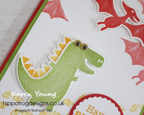 Dino Days Birthday Card. Project designed by Karen at HIPPOFROG Designs