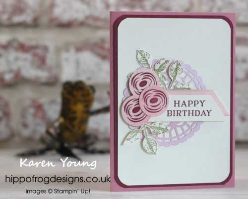 Perennial Birthday. Project designed by Karen at HIPPOFROG Designs