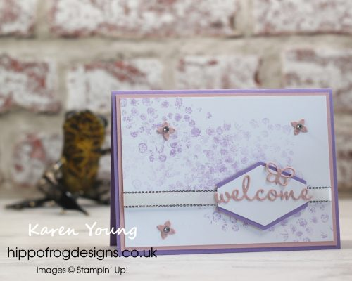Welcome to my Stampin' Up! Team. Project designed by Karen at HIPPOFROG Designs