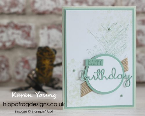 A generic Birthday Card. Project designed by Karen at HIPPOFROG Designs