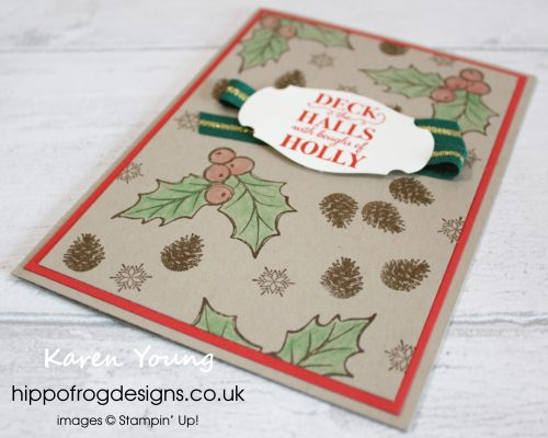Christmas Gleaming Stamp Set. Project designed by Karen at HIPPOFROG Designs