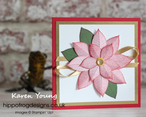 This year's poinsettia. Project designed by Karen at HIPPOFROG Designs