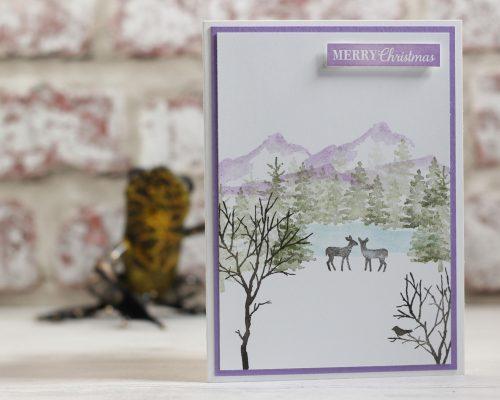 Snow Front Stamp Set. Project designed by Karen at HIPPOFROG Designs