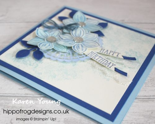 Mum's Birthday Card. Project designed by Karen at HIPPOFROG Designs