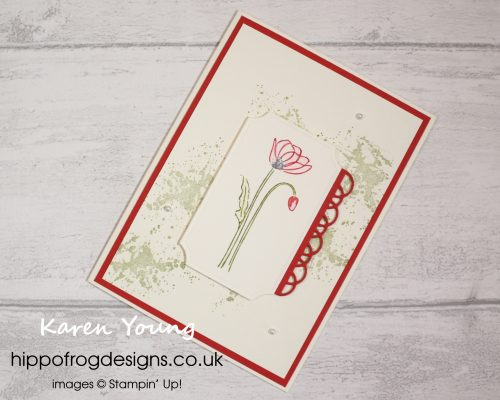 Painted Poppies Bundle. Project designed by Karen at HIPPOFROG Designs