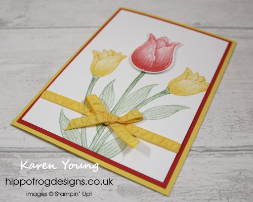 Timeless Tulips Bundle. Project designed by Karen at HIPPOFROG Designs