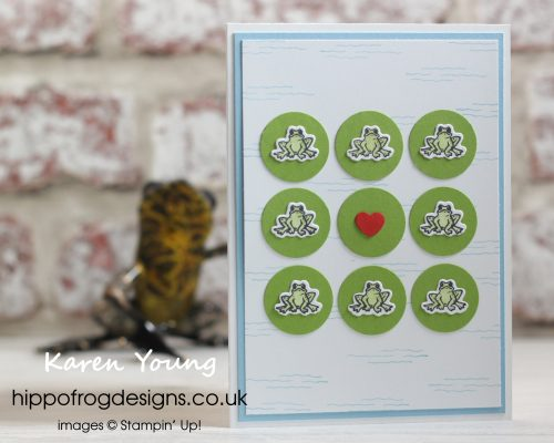 Hoppy Valentine's Day. Project designed by Karen at HIPPOFROG Designs