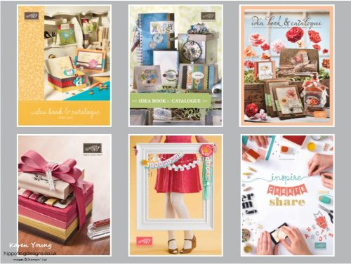 Stampin' Up! Covers since 2009. Picture compiled by Karen at HIPPOFROG Designs