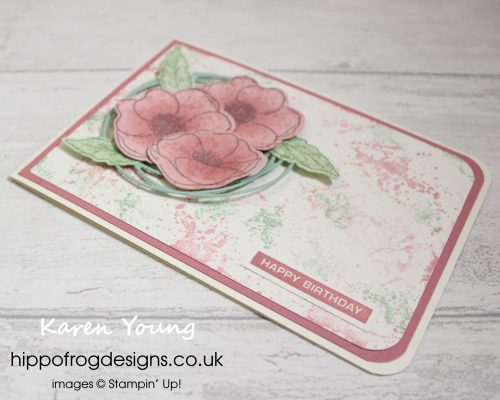 More Painted Poppies. Project designed by Karen at HIPPOFROG Designs