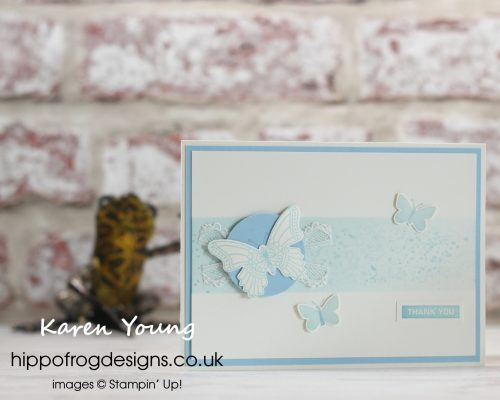 Balmy Blue Butterflies. Project designed by Karen at HIPPOFROG Designs