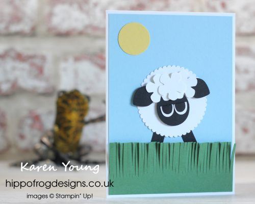 Lamb Easter Card. Project designed by Karen at HIPPOFROG Designs
