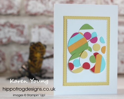 Easter Egg Card. Project designed by Karen at HIPPOFROG Designs