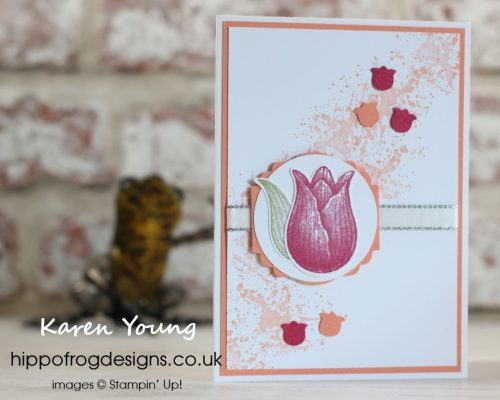 Tulip-tastic. Project designed by Karen at HIPPOFROG Designs