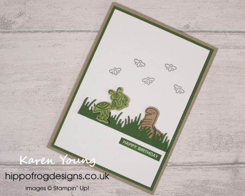 Wiggle Worm Bundle Birthday Card. Project designed by Karen at HIPPOFROG Designs