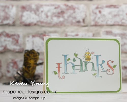 Bee Thankful with Blends. Project designed by Karen at HIPPOFROG Designs